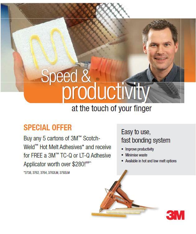 FREE 3M TC-Q or LT-Q Adhesive Applicator worth over $280!