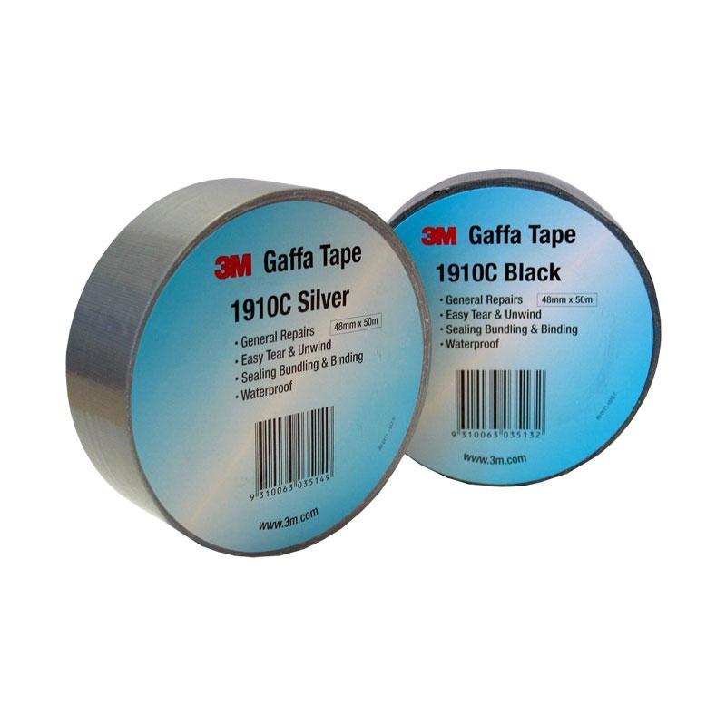 3M Value Duct Tape 1910C Black 48mm x 10m 24 per carton - Adhesive
