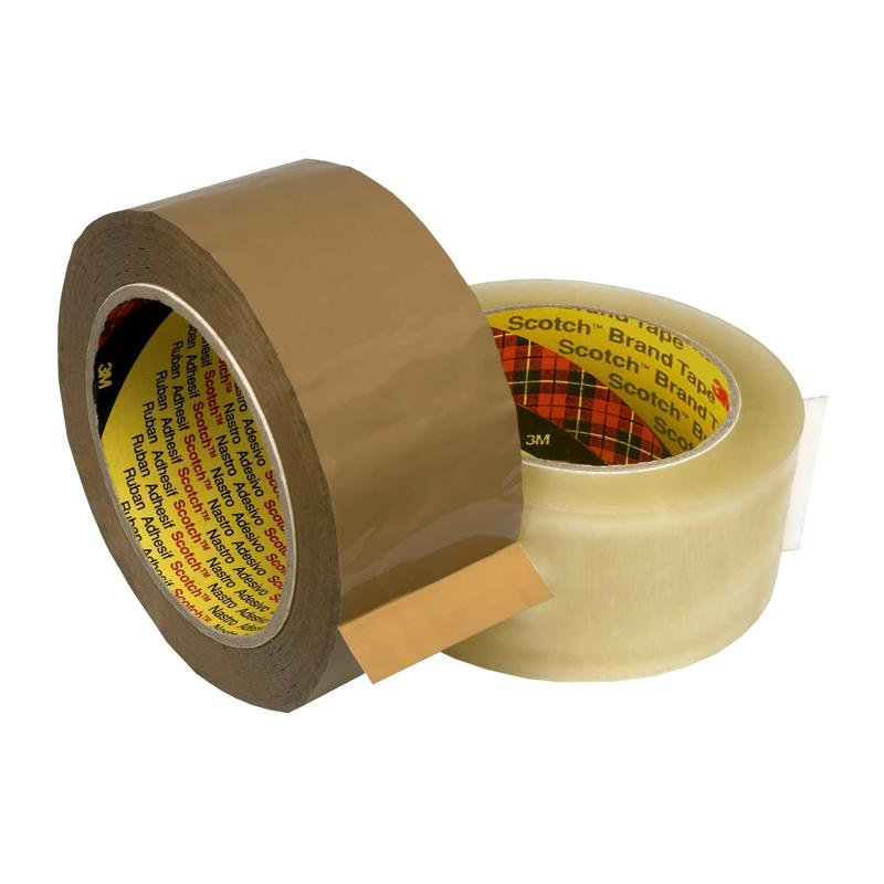 3M Scotch Box Sealing Tape 370 BROWN 48mmx75m - Adhesive