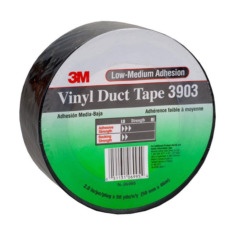 3M Vinyl Duct Tape 3903 Black 50mm x 45m 24 per carton
