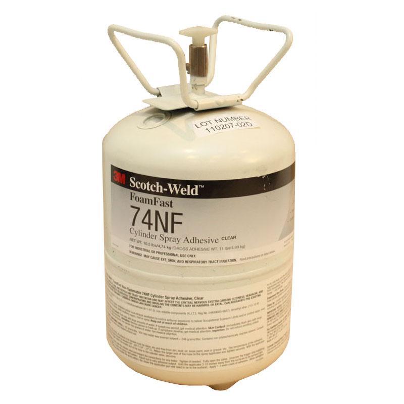 3M 74NF Mini Cylinder Foamfast 4.7Kg Spray Adhesive CLEAR