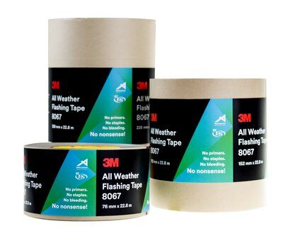 3M's New All Weather Flashing Tape (8067) & Construction Seaming Tape (8087)