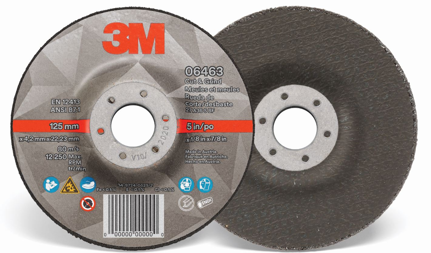 3M Silver Cut and Grind Wheel 230mm x 4.2mm x 22mm (CTN QTY)
