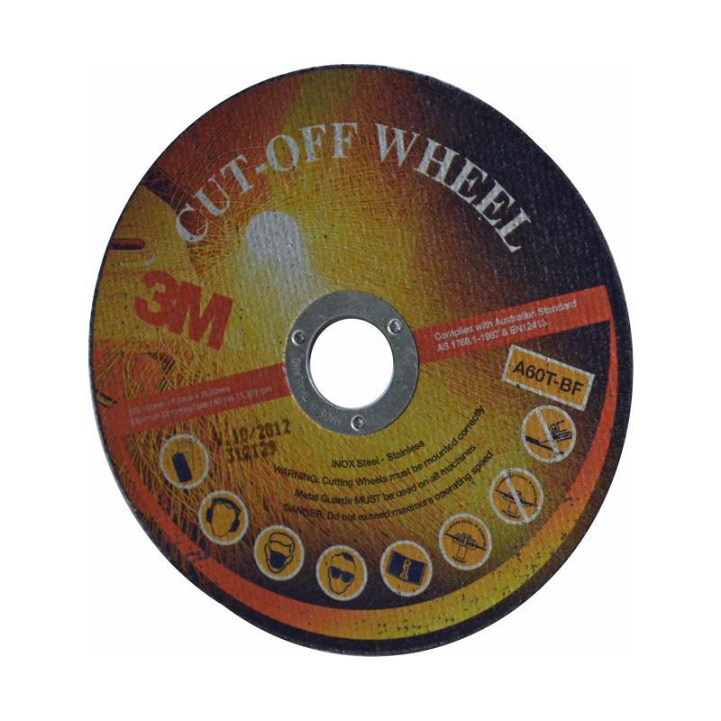 3M Cutoff Wheel 125mmx1mmx22mm A60T Aluminium Oxide (10 pk)