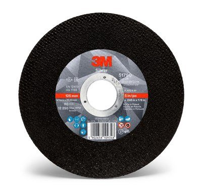 3M Silver Cut-Off Wheel 125mmx1mmx22mm