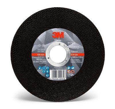 3M Silver Cut-Off Wheel 125mmx1mmx22mm