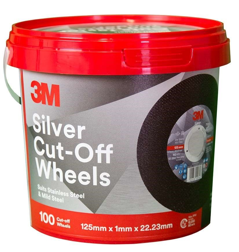 3M 125MM SILVER CUT OFF WHEEL BUCKET PROMOTION (100 WHEELS)