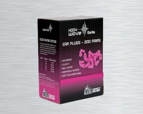 H004 WAVE BELL EAR PLUGS CLASS 4 (200 PAIRS/ BOX)