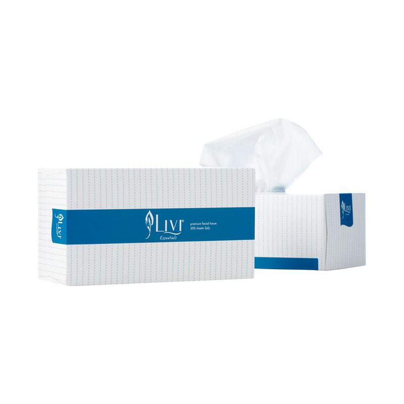 Livi Facial Tissue 2 Ply 1302 200 Sheets 30 boxes per carton
