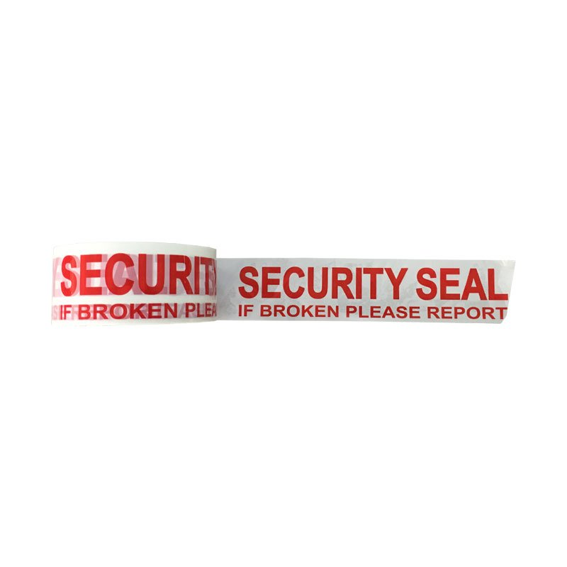 SECURITY SEAL Tape Red On White 48mmx66m