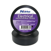 Nitto Electrical Tape 21 BLACK 19mmx20m - Click for more info