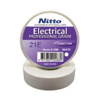 Nitto Electrical Tape 21 WHITE 19mmx20m - Click for more info