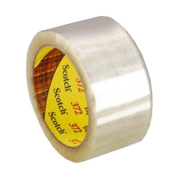 3M Scotch Box Sealing Tape 372 CLEAR 36mmx75m 48 per carton - Click for more info