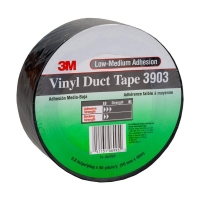3M Vinyl Duct Tape 3903 Black 50mm x 45m 24 per carton - Click for more info