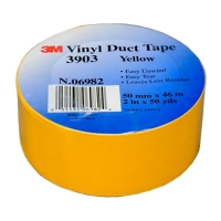 3M Vinyl Duct Tape 3903 Yellow 50mm x 45m 24 per carton - Click for more info