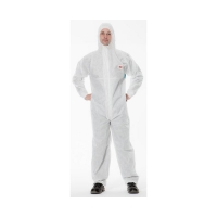 3M Protective Coverall 4520 WHITE+GREEN Large, 20 per carton - Click for more info