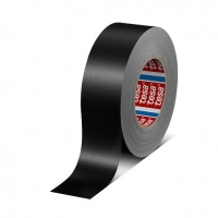 tesa 4688 24mm x 25m Black Waterproof Cloth Tape - Click for more info