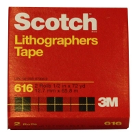 3M 616 Scotch Lithographic Tape RED 12mmx66m - Click for more info