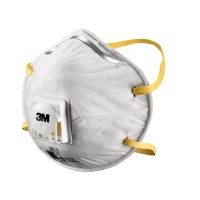 3M Cupped Particulate Respirator 8812 P1 valved 10 per box - Click for more info