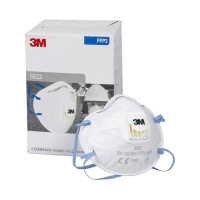 3M Cupped Particulate Respirator 8822, P2, valved 10 per bx - Click for more info