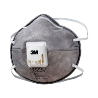 3M Particulate Respirator 9923V, P2, valved, 6 boxes per ct - Click for more info
