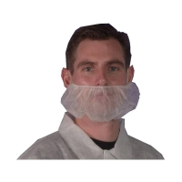 Beard Cover Single Loop WHITE 500 per box - Click for more info