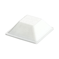 Bumper Square BS-19 WHITE 20.6mm dia x 7.6mm 2646 per ctn - Click for more info