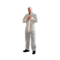 Disposable Overalls Polypropylene WHITE 2XL - Click for more info