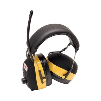 3M Peltor Worktunes Black/Yellow Headband Headsteam/FM - Click for more info