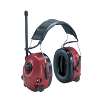 3M Peltor Worktunes Plus Red Headband Level Dependent AM/FM - Click for more info
