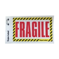 FRAGILE Labels 75mmx130mm BLACK-YELLOW-RED 500 per box - Click for more info