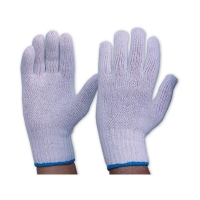 Gloves Mens Knitted Poly/Cotton Plain WHITE 342K - Click for more info