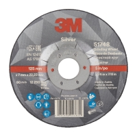 3M Silver Depressed Centre Grinding Wheel 125mmx7x22.23mm - Click for more info