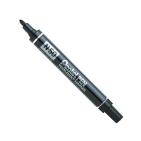 Pentel Bullet Point Marking Pen N50 BLACK 12 per pack - Click for more info