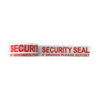 SECURITY SEAL Tape Red On White 48mmx66m - Click for more info