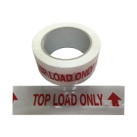 TOP LOAD ONLY Tape Red On White 48mmx66m - Click for more info